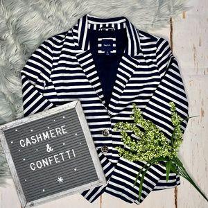 Gap Kids Girl's Nautical Striped Blazer Size XL E4
